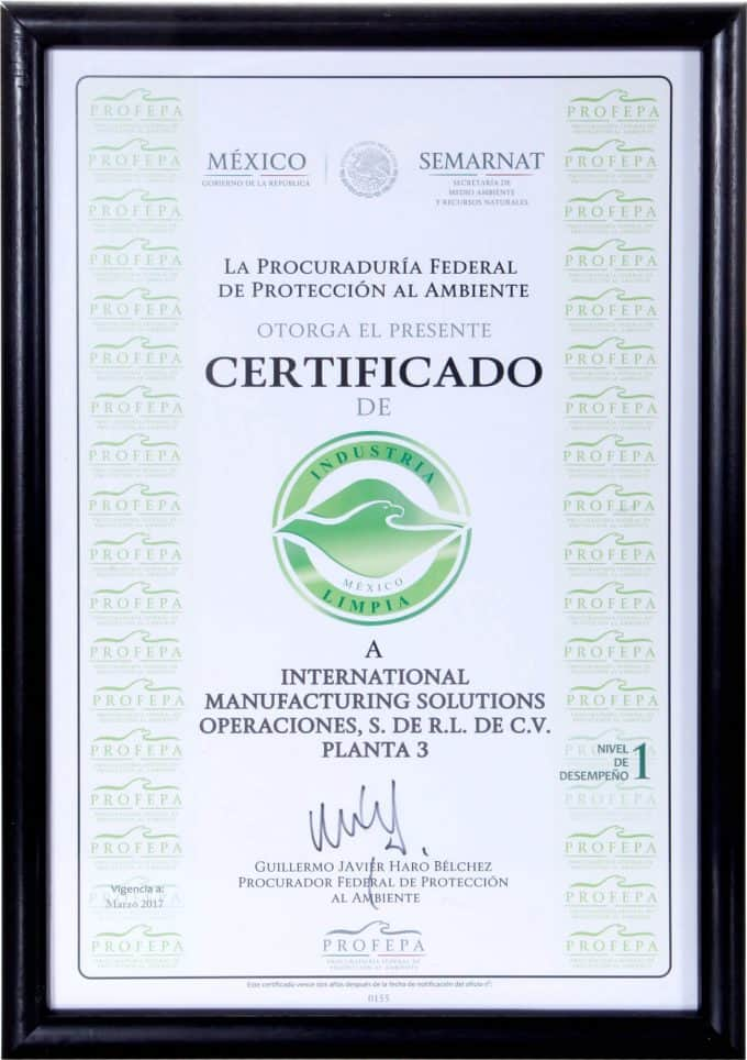 Clean industry certification