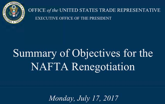 NAFTA Renegotiation Announcement