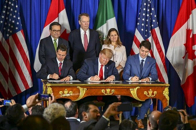 The United States Signs the USMCA with Mexico and Canada